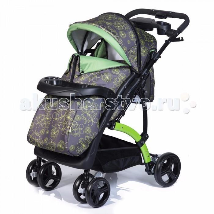 Прогулочная коляска Baby Hit FloraFloraСовременный европейский дизайн прогулочной коляски Baby Hit Flora сочетает в себе эргономичность и простоту. А ее комплектация и аккуратность деталей наверняка оценит и мама, и малыш. Яркие сочные ткани, приятный цвет рамы и пластиковых элементов делают коляску эффектной внешне и очень практичной в пользовании. Удобные ячейки на родительской ручке, подстаканники для бутылочек, удобный подносик-поручень для ребёнка позволят Вам как можно дольше находится на свежем воздухе с Вашим малышом, вооружившись необходимым принадлежностями для малыша.   Ребёнок сможет в колясочке поиграть, покушать, уютно поспать и даже спрятаться от сильного ветра или дождя под глубоким капюшоном - батискафом. Очень важный элемент коляски - перекидная ручка, благодаря которой можно менять положение коляски относительно мамы.  Особенности коляски: Подходит для детей от 6 – 36 мес Ширина посадочного места – 35 см Съемный поручень в виде удобного подносика Покраска рамы и всех пластиковых деталей Амортизация на всех колесах 5-титочечный ремень безопасности Регулируемая подножка Перекидная ручка Наличие капюшона-батискафа Положение спинки – до 175 градусов  Размеры:  Глубина сидения – 20 см Ширина сидения – 35 см Подножка – 13 см Спинка – 40 см  В комплекте: Полог на ножки Дождевик Москитная сетка Корзина для продуктов<br>