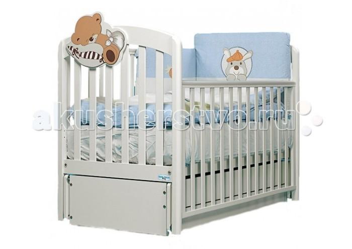 Детская кроватка Baby Italia Leo (продольный маятник)
