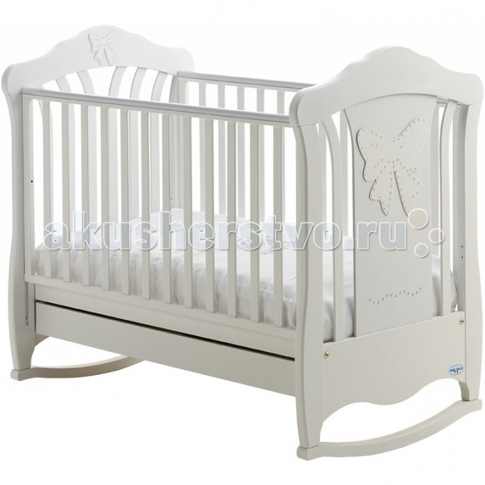 Детская кроватка Baby Italia Mimi cо стразами (качалка)