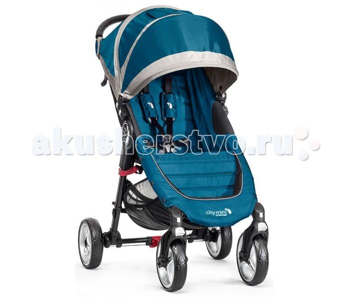 Прогулочная коляска Baby Jogger City Mini 4 WheelCity Mini 4 WheelBaby Jogger City Mini Single 4 Wheel – прогулочная четырехколесная коляска для одного ребенка. Максимальная допустимая нагрузка на коляску составляет 23 кг. City Mini 4 Wheel надёжно стоит на 4 ненадуваемых колёсах, передняя пара свободно вращается на оси, а на случай снега, песка, бездорожья или гололёда колёса плотно фиксируются. Амортизация тоже сделала шаг вперёд, и ваш малыш будет сладко посапывать даже на сложной для обычной коляски трассе. Отлично себя зарекомендовавшая технология быстрого складывания остаётся в действии, также как и жёсткая спинка с мягкими нашивками для удобства малыша и поддержания его спинки. Этой же цели служит ремень с пятью точками крепления и мягкими подушечками-накладками на плечах.  Дополнительное удовольствие для малыша во время прогулки в City Mini 4 Wheel – это возможность установки спинки сиденья не только почти горизонтально, но и почти вертикально. Так и сидеть удобно, и обзор максимально широк.  Прогулочный блок: грузоподъёмность: до 22 кг, то есть вы вольно выбирать позволенный вес при помощи загрузки карманов и отделов коляски покупками и прочим грузом легко, быстро и удобно складывается благодаря запатентованной фирмой Baby Jogger системе Quick-Fold Technology сиденье откидывается в почти горизонтальное положение – максимально удобную позицию для сна малыша регулируемый по высоте капюшон со встроенным смотровым окном регулируемые по высоте для детей разного роста 5-титочечные ремни безопасности с мягкими наплечниками универсальный кронштейн для крепления различных аксессуаров удобный сетчатый карман за спинкой сиденья для игрушек и детских принадлежностей система автофиксации коляски в сложенном виде    Шасси: двойное переднее поворотное колесо тщательно изготовлено для обеспечения точного маневрирования, поэтому коляску легко поворачивать даже в многолюдных местах колесо легко блокируется для долгой прогулки по неровной дороге независимая амортизация передн
