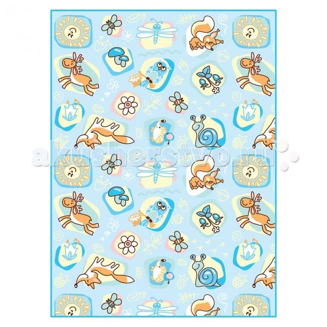 Одеяло Baby Nice (ОТК) байковое Лесные жители 100х118 см