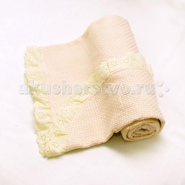 Одеяло Baby Nice (ОТК) вязанное с рюшами 80х100 см