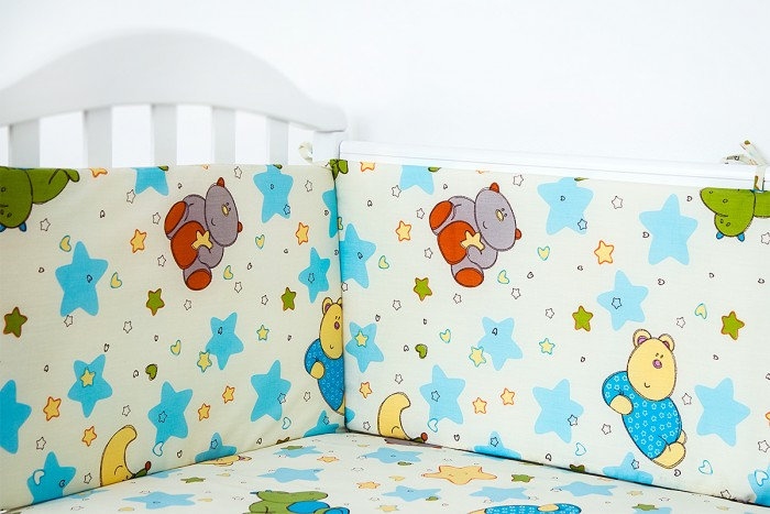 Бампер для кроватки Baby Nice (ОТК) Звездопад