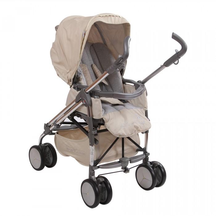 Коляска-трость Babylux CaritaCaritaМногофункциональная прогулочная коляска-трость Carita для детей до 3х лет очень маневренная, надежная и комфортная. Она сделана из качественных и продуманных материалов.   Характеристики: Стильный дизайн и красивая, модная расцветка Компактный и простой механизм складывания - трость Удобные раздельные ручки, которые регулируются по высоте Все колесики сдвоенные. Это сделано для прочности. На каждом колесе есть амортизация Передние колеса поворачиваются в обе стороны, а на задних есть тормоза Металлическая рама очень прочная Под сиденьем есть вместительная корзина Удобная подставка для ног. Ее можно мыть Подножка регулируется и устанавливается в двух положениях Два положения спинки коляски, включая горизонтальное, позволит придать удобное положение малышу Капюшон очень большой. Хорошо закрывает от солнца Сиденье устанавливается в двух положениях относительно движения (Reverse). У него высокие и мягкие бортики Ребенка можно пристегнуть пятиточечными ремнями безопасности с мягкими накладками Бампер пластиковый. Его можно снимать  Вес: 15 кг<br>