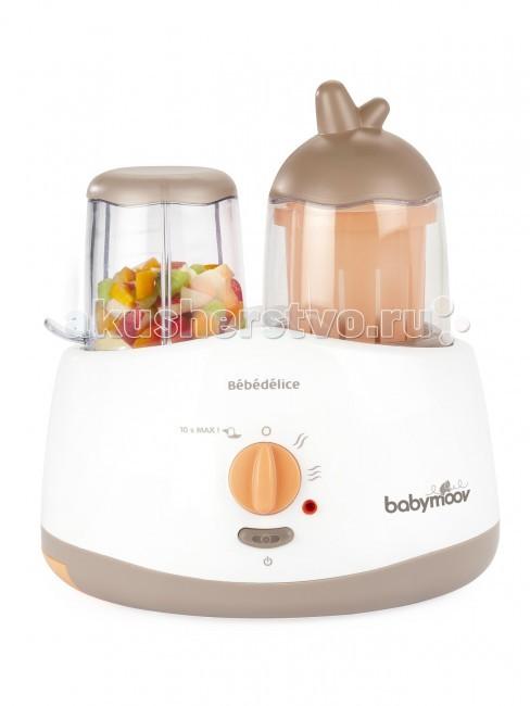 Babymoov Кухонный комбайн Bebedelice (измельчение + подогрев)Кухонный комбайн Bebedelice (измельчение + подогрев)Комбайн от Babymoov Bebedelice — многофункциональный кухонный прибор, который поможет Вам не только готовить вкусную, полезную еду для малыша, но и размораживать продукты, стерилизовать бутылочки!   Особенности:  5 функций — измельчает, смешивает, подогревает, размораживает, стерилизует;  звуковая и световая индикация остановки;  стакан для приготовления сока;  емкость для смешивания; необходимые приспособления для стерилизации;  компактный, легкий, прост в эксплуатации.   В комплект входит всё необходимое для выполнения всех функций прибора.   Приготовление детского питания  Размораживание  Подогревание  Стерилизация бутылочек<br>