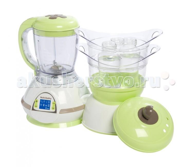 Babymoov Комбайн NutribabyКомбайн NutribabyBabyMoov Nutribaby многофункциональный кухонный прибор, который поможет Вам не только готовить вкусную, полезную еду для малыша, но и размораживать продукты, стерилизовать бутылочки!  Основные характеристики: - 5 функций: измельчает, смешивает, подогревает, размораживает, стерилизует, готовит - готовит, сохраняя все питательные вещества - позволяет готовить несколько видов блюд одновременно - звуковая и световая индикация остановки - LCD экран, для регулировки работы прибора - компактный, легкий, прост в эксплуатации - автоматическое отключение  Размеры : 39 х 29 х 20 см  В комплекте: - 2 емкости для приготовления блюд - емкость для смешивания - необходимые приспособления для стерилизации - книжечка рецептов Тех. характеристики: 230 V/500 W<br>