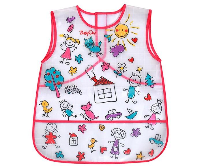 Нагрудник BabyOno клеенчатый большойклеенчатый большойСлюнявчик клеенчатый для детей от 36 мес.  Удобный и практичный: изготовлен из мягкого, лёгкого и легко моющегося материала удобная застёжка-липучка защищает одежду от загрязнения при приёме пищи и во время игры идеальный для детей дошкольного возраста  Размеры 45 x 38 см<br>