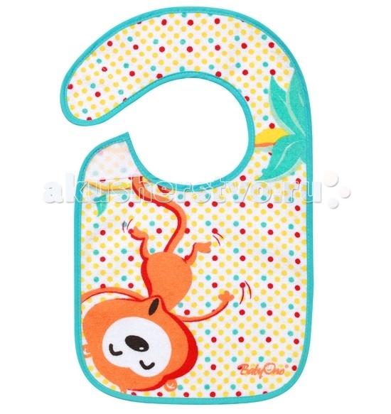 Нагрудник BabyOno махровый с водостойким слоем 874махровый с водостойким слоем 874Нагрудник махровый с водостойким слоем BabyOno 728.  Нагрудник BabyOno хлопковый на липучке с ярким и забавным рисунком пригодится при кормлении малыша и поможет маме сохранить вещи чистыми.   Внутренний слой из водонепроницаемого мягкого слоя.  Удобное и практичное крепление на липучке нагрудника увеличивает комфорт. А красивый и яркий дизайн порадует любого кроху.   Особенности: - удобная застежка-липучка; - яркий дизайн; - сделан из высококачественных материалов; - не вызывает раздражения.  Размер: 35 x 22 см<br>