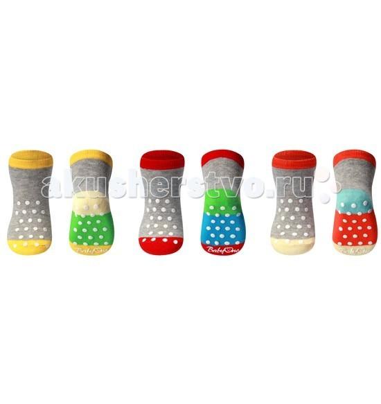 BabyOno Носки из хлопка Stripe антискользящие 6+ (1 пара)Носки из хлопка Stripe антискользящие 6+ (1 пара)Мягкие и комфортные носочки для малышей от 6 мес+  Теплые и мягенькие носочки, согреют нежнейшие маленькие ножки. Подарят им тепло и комфорт. Изготовленные из нетоксичных и высококачественных материалов. Благодаря своей мягкой и нежной текстуре они очень приятные на ощупь и подходят для чувствительной кожи младенцев.   мягкие, высококачественные удобные не тугой манжет веселый дизайн дарят малышу тепло и комфорт<br>