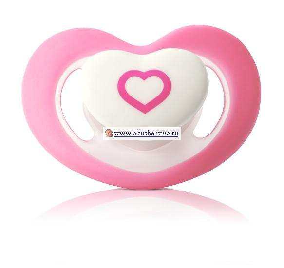 Пустышка BabyOno силиконовая анатомическая Сердце 0-6 мес