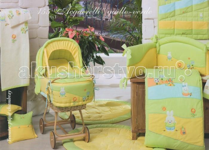 BabyPiu Acquerelli Корзинка из ткани для мелочей с вышивкой