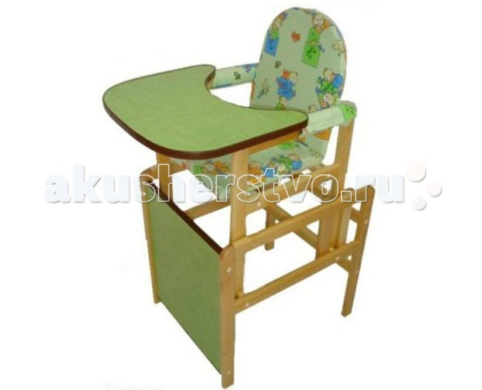 Стульчик для кормления BabyRoom МатрешкаМатрешкаСтульчик для кормления малыша Babyroom Матрешка является трансформирующейся конструкцией, которая может превратиться в небольшой стульчик и столик, за которые ребенок сможет взбираться самостоятельно. Продукция российского бренда выполнена из высококачественных материалов, полностью экологичная и безопасная.  Достоинства стульчика для кормления: Детская мебель Babyroom производится из экологичных материалов, которые даже при контакте с едой остаются безопасными для ребенка. Деревянный каркас покрыт лаком на водной основе, он не навредит ребенку даже в случае контакта с горячими поверхностями. В сложенном виде стульчик достаточно компактный. Прост и удобен в сборке. Сидение имеет мягкую обивку, которая защищена от загрязнению моющейся обивкой. Есть страховочные ручки с мягкой обивкой по бокам. Перед ребенком есть удобный столик-подносик с защитными бортиками по периметру, которые не позволяют растекаться жидкости в том случае, если ребенок что-то опрокинет. А в первые недели опрокидывать он будет много. Когда ребенок подрастет, подносик можно демонтировать, верхнюю часть стульчика демонтировать и он превратится в более компактное сидение и приставляется к основе, которая является столиком.  Вес  7 кг<br>