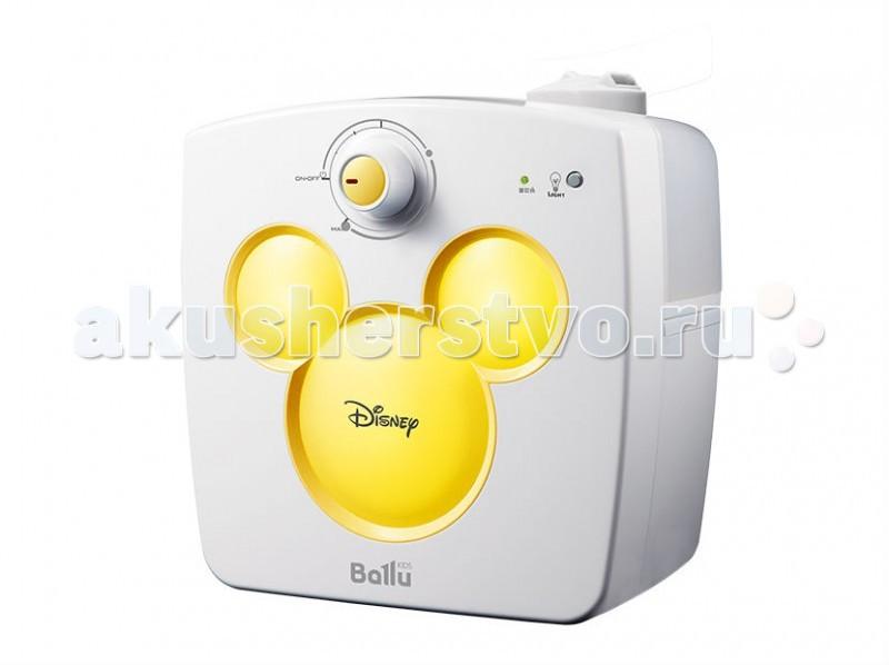 Ballu Увлажнитель ультразвуковой UHB-240 DisneyУвлажнитель ультразвуковой UHB-240 DisneyВ отопительный период влажность воздуха в помещениях существенно ниже нормы (40-60%). Сухой воздух способствует распространению вирусных заболеваний, приводит к повышению утомляемости, сушит слизистые и может стать причиной рези в глазах и головной боли. Для создания и поддержания комфортного микроклимата используются увлажнители воздуха.  Специально для детей разработана уникальная серия увлажнителей Ballu Kids, включающая в себя приборы с образами популярных героев анимационных фильмов. Совместно с художниками и дизайнерами Disney была создана модель Ballu UHB-240 (Увлажнитель Ballu UHB-240 является лицензионным продуктом, разрешенным к продаже компанией Disney), которая сочетает в себе функцию увлажнителя и светильника – ночника.  В приборе предусмотрена возможность регулировки скорости увлажнения, а поворотный 2-х струйный распылитель позволит направить поток воздуха в нужную сторону. Прибор автоматически остановит работу при минимальном уровне воды, а прорезиненные ножки исключат его скольжение по любым поверхностям.  Встроенный светильник – ночник поможет создать в детской комнате комфортные условия для спокойного сна. Увлажнители Ballu Kids, вдохновленные любимыми героями Disney, станут полезным и нужным подарком.  Отличительные особенности Поворотный 2-х струйный распылитель Индикация режима работы Автоотключение при низком уровне воды Отключаемая подсветка - ночник Противоскользящие ножки<br>