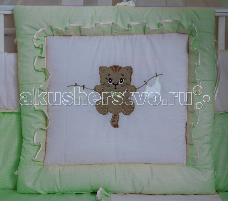 Комплект для кроватки Балу Мультяшки (8 предметов)