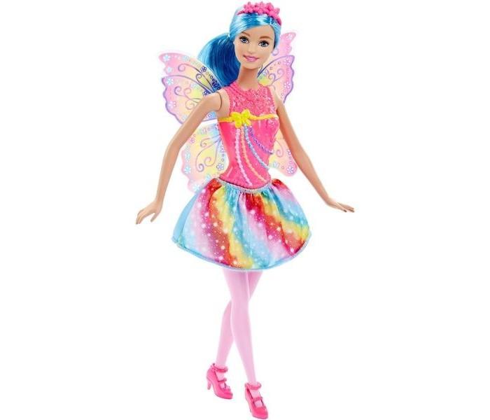 Barbie Кукла-фея Mix'N MatchКукла-фея Mix'N MatchBarbie Кукла-фея Mix'N Match  Новая серия Барби Mix'N Match – это расширенные возможности для создания уникального облика вашей куклы.  Теперь наряды кукол снимаются полностью. Можно снять обувь, тиару, юбку, лиф и даже крылья феи, а затем обменяться ими с другой куклой. Приятный момент для поклонников серии: меняться одеждой друг с другом могут не только феи, но также русалки и принцессы. Детали нарядов любых кукол их трех серий подходят друг к другу.  Высота куклы: 29 см. Цвет волос: голубой, розовый, фиолетовый<br>
