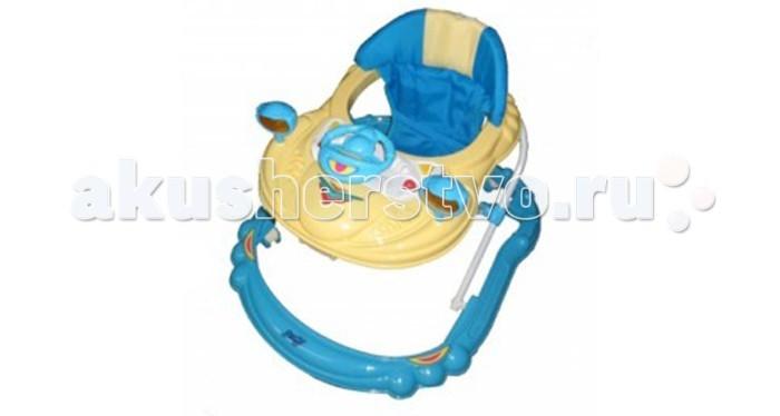 Ходунки Barty BL313BL313Детские ходунки Barty BL313 – незаменимый помощник молодой мамочки, чей ребенок начинает делать первые шаги.   Максимальную устойчивость, а значит и безопасность им придает широкое основание.  Семь двойных поворотных колеса не испортят напольное покрытие и придадут свободу перемещения и маневренность.  Мягкое сидение, которое можно мыть, обеспечит дополнительный комфорт малышу.  Описание: столик с музыкально-игровой панелью  мягкое сиденье, съемный чехол широкое основание сидение с высокой жесткой спинкой материал: , основание - пластик, сидение - мягкая обивка 7 двойных поворотных колес<br>