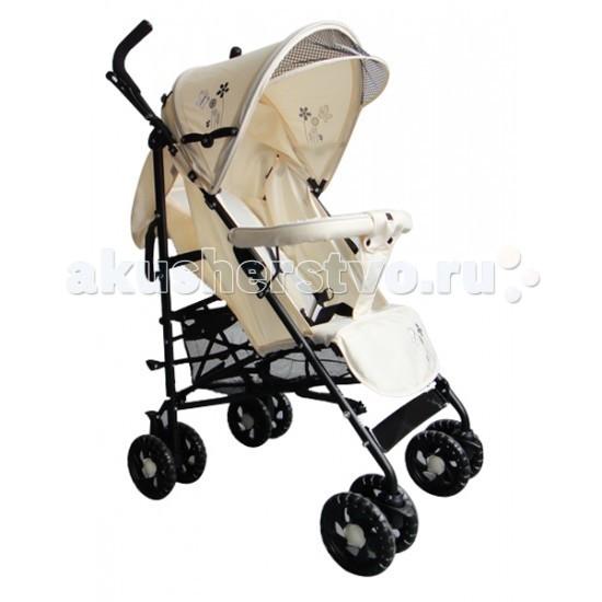 Коляска-трость Barty KGM-6109KGM-6109Коляска трость Barty KGM-6109 гарантирует комфорт и предельное удобство для родителей и малышей. Коляска предназначена для деток от полугода и старше. А еще коляска разработана с учетом особенностей и потребностей мегаполиса.  Особенности: Коляска выполнена из качественных материалов по современным технологиям, что гарантирует Barty KGM-6109 долговечность. Прочная металлическая рама установлена на резиновые сдвоенные колеса, при этом передняя пара поворотная с возможностью фиксации для классической езды. Такое решение позволило гарантировать модели отличную проходимость и маневренность. Дизайн Barty KGM-6109 достаточно лаконичный, выдержанный. Сидение ребенка просторное, имеет регулируемую спинку. Ремни безопасности дополнены защитным бампером-перекладиной перед малышом и мягкой перемычкой между ножек. Большой капюшон и боковые части защищают ребенка от непогоды. Есть дополнительно козырек для лучшей защиты от солнца. В комплектацию детской коляски Barty KGM-6109 входит также накидка на ножки, которая позволяет защищать малыша от дождя и ветра. Подножка регулируется, а вместе со спинкой в раскрытом виде создают комфортное место для отдыха и сна. В сложенном виде коляска очень компактная. У основания есть вместительная корзина для покупок. Количество колёс, размеры колес: 4 сдвоенные, диаметр - 15 см Корзина для покупок  Материал колес: резиновые Материал корзины для покупок: сетчатая Материал обшивки коляски: ткань Механизм вращения: поворотные Ширина сидения - 34 см&#8232; Глубина сидения - 19 см Длина спального места - 78 см Длина колесной базы - 53 см Регулировка спинки прогулочного блока Ремни безопасности  Ручка-перекладина перед ребенком  Сертификат РСТ Угол наклона спинки: 170<br>