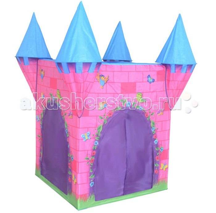BBT Игровой домик - палатка Волшебный замок 816Игровой домик - палатка Волшебный замок 816ВВТ Игровой домик - палатка Волшебный замок понравится Вашему ребёнку. Сделана палатка в виде замка с крышей, окнами, входом. Словом, это и правда самый настоящий замок, только маленький.   Дети очень любят строить домики и укрытия, играть там и отдыхать. Игровая палатка может использоваться как дома, так и летом на даче. Очень компактно складывается и легко раскладывается. С игровой детской палаткой - домиком вы подарите малышу свое личное пространство для игр.  Изготовлена палатка из прочного нетоксичного материала, качественно прошита.  Замечательная палатка поможет вам организовать весёлый досуг для активного ребёнка, порадует и подарит ему массу приятных впечатлений!<br>