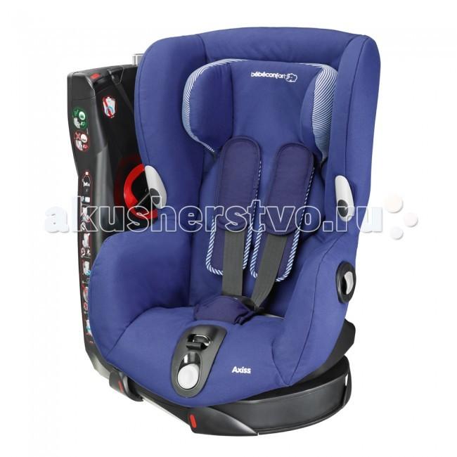 Автокресло Bebe Confort AxissAxissBebe Confort Axiss - первое европейское кресло с поворотным механизмом. Для  удобства посадки ребенка в автомобиль сиденье поворачивается относительно базы  на 90&#186;. Встроенный подголовник обеспечивает дополнительный комфорт и  регулируется по высоте одновременно с внутренними ремнями. Кресло переводится в  режим для отдыха одним движением руки, всего 8 положений. Обивка автокресла  Axiss съемная, можно стирать. Уникальная запатентованная система вращения  Turnosafe позволяет вращать сиденье на 90° к правой или левой стороне  автомобиля, в зависимости от места размещения автокресла в машине).  Сиденье обращено к дверям: идеальная позиция для удобного усаживания ребёнка  и правильного регулирования внутренних ремней.  Сиденье повёрнуто вперёд, к дороге: специальный механизм помогает  доворачивать сиденье с ребёнком в положение для поездки (обращённное вперёд)  Индикатор (указатель) надёжной блокировки: индикатор становиться зеленым  только при надёжной блокировке сиденья в положении обращённом вперёд.  Автокресло фиксируется в автомобиле штатными 3-х точечными ремнями  безопасности.  Ремни автомобиля проходят по передней части основания автокресла, через  выразительные направляющие красного цвета.  Встроенное натяжное устройство (лебёдка) максимально туго притягивает  автокресло к автомобилю, так, что оно становятся с ним слитными.<br>