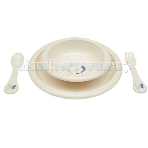 Bebe Jou Комплект посуды для кормленияКомплект посуды для кормленияВ комплекте: 2 тарелочки, ложка и вилка<br>