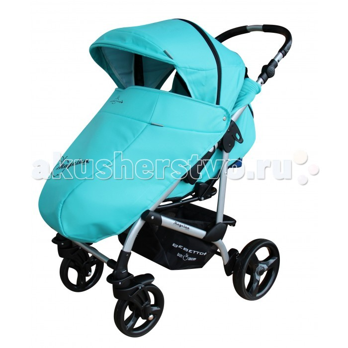 Прогулочная коляска Bebetto MagelanMagelanДетская прогулочная коляска Bebetto Magelan - одна из лучших колясок для малышей от 6 месяцев до 3-х лет. Благодаря горизонтальной спинки коляски Bebetto Magelan Ваш малыш сможет спокойно спать на улице во время прогулки. Если Вас застанет дождь далеко от дома, тогда удобный дождевик лучше всего защитит Вашего малыша от сырости и влаги. Также у коляски Bebetto Magelan предусмотрены ремни безопасности с мягкими накладками, а дополнительную защиту обеспечивает бампер, который при желании можно снять.  Коляска Bebetto Magelan имеет большой капюшон, который можно легко и бесшумно снять. Во время регулировки капюшона есть небольшие щелчки, которые не нарушат сладкий сон Вашего малыша. Особый комфорт создаст накидка на ноги, так Вы сможете быть спокойны, что Ваш ребенок в тепле и уюте. Коляска оснащена надежной системой тормозов, а благодаря алюминиевой раме Вы легко сможете поднимать ее на нужный этаж.  Шасси: регулировка высоты родительской ручки в диапазоне 62-102 см от земли задние увеличенные колеса со съемной педалью тормоза пара передних колес с функцией вращения по кругу все колеса легко снимаются пружинные амортизаторы на задней оси багажная глубокая корзина  Сиденье: многопозиционная спинка раскладывается до 170-180° длина спального места — 90 см мягкие бортики по бокам несколько положений подножки широкий бампер с разделителем ножек 5-титочечные страховочные ремни съемный регулируемый капюшон с отсеком для вентиляции плотный козырек на подкладке  Комплектация Накидка на ноги Дождевик Солнцезащитный козырек Корзина для покупок, из ткани  Вес и размеры: Размеры коляски в разложенном состоянии: 94/59/103 см Размер коляски в сложенном виде с колесами: 90/59/32 см Размер коляски в сложенном виде без колес: 89/58/30 см Длина спального места: 89 см. Ширина сидения: 38 см.<br>