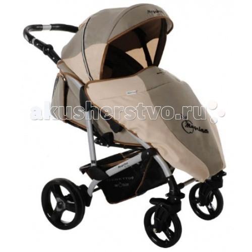 Прогулочная коляска Bebetto MagelanMagelanДетская прогулочная коляска Bebetto Magelan - одна из лучших колясок для малышей от 6 месяцев до 3-х лет. Благодаря горизонтальной спинки коляски Bebetto Magelan Ваш малыш сможет спокойно спать на улице во время прогулки. Если Вас застанет дождь далеко от дома, тогда удобный дождевик лучше всего защитит Вашего малыша от сырости и влаги. Также у коляски Bebetto Magelan предусмотрены ремни безопасности с мягкими накладками, а дополнительную защиту обеспечивает бампер, который при желании можно снять.  Коляска Bebetto Magelan имеет большой капюшон, который можно легко и бесшумно снять. Во время регулировки капюшона есть небольшие щелчки, которые не нарушат сладкий сон Вашего малыша. Особый комфорт создаст накидка на ноги, так Вы сможете быть спокойны, что Ваш ребенок в тепле и уюте. Коляска оснащена надежной системой тормозов, а благодаря алюминиевой раме Вы легко сможете поднимать ее на нужный этаж.  Шасси: регулировка высоты родительской ручки в диапазоне 62-102 см от земли задние увеличенные колеса со съемной педалью тормоза пара передних колес с функцией вращения по кругу все колеса легко снимаются пружинные амортизаторы на задней оси багажная глубокая корзина Цвет рамы: серый  Сиденье: многопозиционная спинка раскладывается до 170-180° длина спального места — 90 см мягкие бортики по бокам несколько положений подножки широкий бампер с разделителем ножек 5-титочечные страховочные ремни съемный регулируемый капюшон с отсеком для вентиляции плотный козырек на подкладке  Комплектация Накидка на ноги Дождевик Солнцезащитный козырек Корзина для покупок, из ткани  Вес и размеры: Размеры коляски в разложенном состоянии: 94/59/103 см Размер коляски в сложенном виде с колесами: 90/59/32 см Размер коляски в сложенном виде без колес: 89/58/30 см Длина спального места: 89 см. Ширина сидения: 38 см.<br>