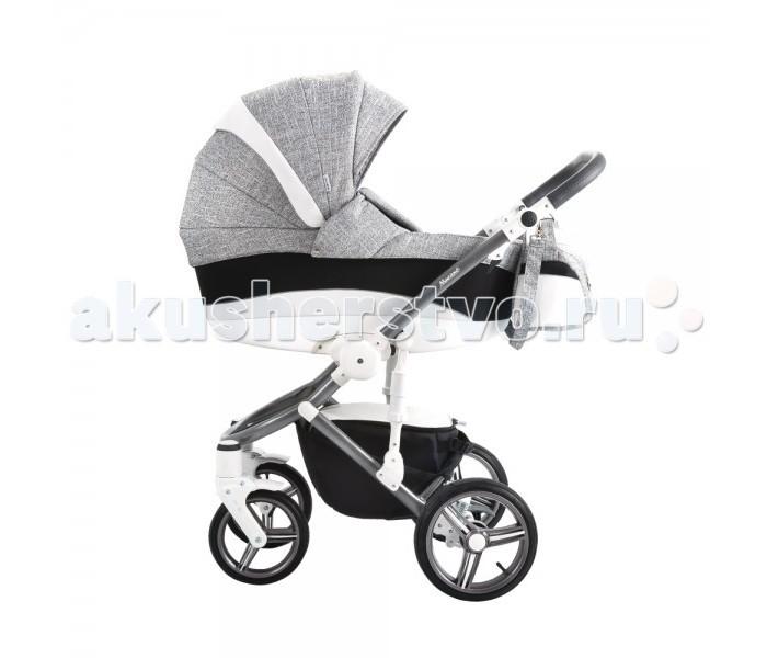 Коляска Bebetto Murano 2 в 1Murano 2 в 1Bebetto Murano 2 в 1 - универсальная детская коляска, которая может эксплуатироваться с самого рождения малыша и до достижения им трехлетнего возраста. Люлька для новорожденного очень легко и быстро сменяется на прогулочный блок, поэтому молодым родителям не нужно тратиться на покупку отдельной коляски-прогулки.  Люлька отличается вместительностью, комфортабельностью и жестким дном, которое гарантирует правильную осанку. Как и прогулочный блок, люлька полностью адаптирована под достаточно сложный российский климат. Оба модуля превосходно утеплены, могут эксплуатироваться при сильных морозах. Отдельного внимания заслуживает повышенная проходимость модели, что немаловажно для отечественных дорог и тротуаров.  Bebetto Murano оснащена удобной ручкой для переноски и простой системой монтажа (демонтажа) модулей. Расширенная комплектация модели, позволяет обеспечить надежную защиту ребенка от ветра, дождя, снега и солнечных лучей. За повышенный комфорт также отвечает эффективная система вентиляции, служащая настоящим спасением в сильную жару.  Шасси: Современный стильный дизайн. Материал шасси - облегченный алюминиевый сплав. Масса рамы с колесами составляет 9.8 кг. Регулируемая ручка (по высоте). Размеры коляски в сложенном виде (88x60x32см) позволяют размещать ее в багажнике легкового авто Превосходная система амортизации, включая возможность регулировать жесткость. Передние колеса - поворотные, что гарантирует хорошую маневренность. При необходимости колеса фиксируются в одном положении. Надувные колеса большого диаметра обеспечивают отличную проходимость коляски независимо от качества дорожного покрытия. Простота процесса монтажа (демонтажа) колес.  Люлька: Легкость. Вес люльки составляет 5.3 кг. Материал дна - экологичный практичный пластик. Вместительная люлька, гарантирующая высокий комфорт. Габариты люльки - 79x36x21.5 см. Капюшон больших размеров (регулируется абсолютно бесшумно). Эргономичная ручка для транспортировки. Наки