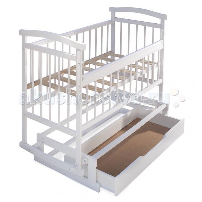 Детская кроватка Бэби Бум Аленка 3 маятник - Белый