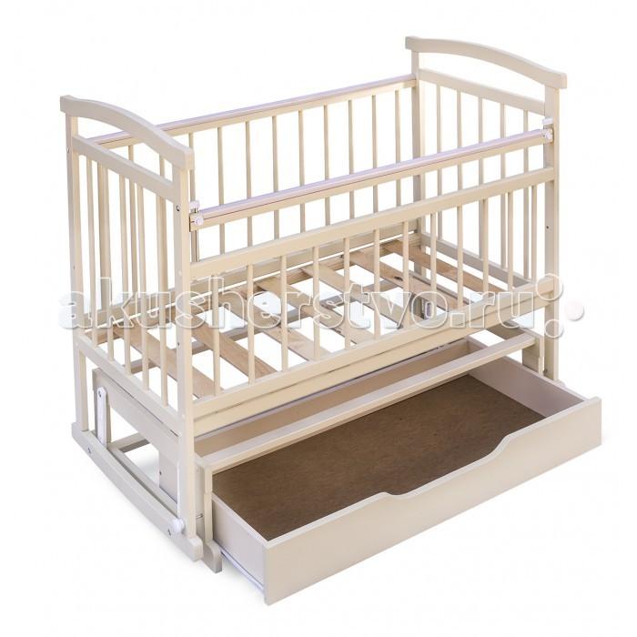 Детская кроватка Бэби Бум Аленка 3 маятник - Ваниль