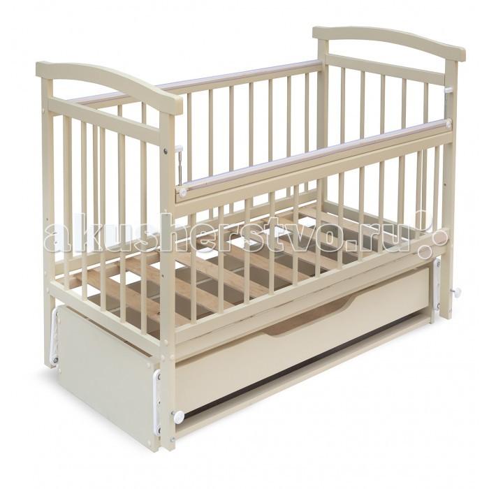 Детская кроватка Бэби Бум Алёнка 4 (маятник продольный)