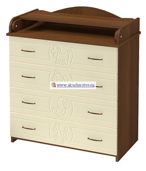 Комод Бэби Бум Зоопарк пеленальный (4 ящика)