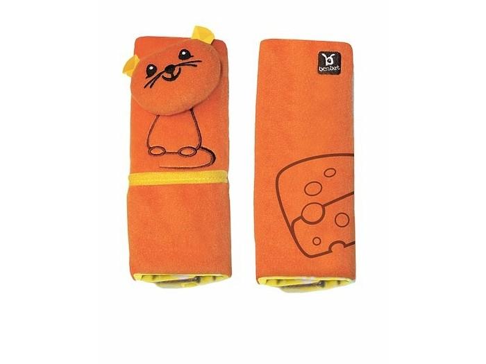 BenBat Накладка для ремня безопасности 1-4 годаНакладка для ремня безопасности 1-4 годаНакладки для ремня безопасности с забавным животным от фирмы BenBat помогут вашему ребенку провести время в путешествии с максимальным комфортом. Мягкая и удобная накладка не позволит ремню пережимать и стягивать шею и грудь вашего малыша, препятствуя натиранию тугим и жестким ремнем. Что добавляет безопасности при езде малыша. Накладка похожа на обычную игрушку, но она выполняет очень важную функцию. Кроме того, для удобства на ней есть кармашек, в который можно положить небольшие необходимые вещи: заколочку, камешек, мелочь или салфетки. Теперь ваше чадо будет пристегиваться с удовольствием. Безопасность в дороге может быть веселой!<br>