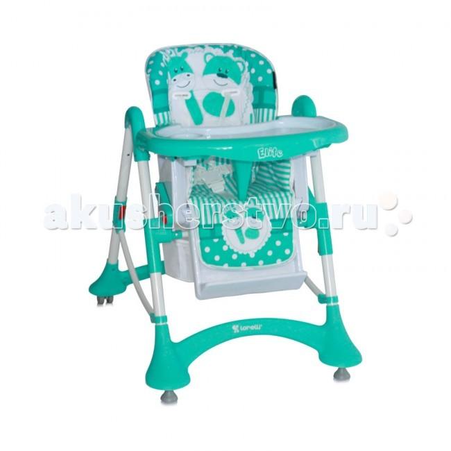 Стульчик для кормления Bertoni (Lorelli) EliteEliteДетский стульчик для кормления Bertoni Elite – удобный, мягкий, безопасный, предназначен для детей в возрасте от 6 месяцев, когда ребенок устойчиво научился сидеть.  Стульчик для кормления Bertoni Elite - многофункциональная модель, удобная для использования родителями и комфортная для ребенка. Несомненным плюсом данного продукта является возможность регулирования высоты и положения спинки, сиденья и столика, что обеспечивает комфортность использования и расширяет временной диапазон и функциональность использования. Стульчик Bertoni Elite регулируется по высоте (5 положений). Спинка кресла имеет 3 уровня наклона: сидя, полусидя, полулежа. Вместе с углом наклона спинки меняется и угол наклона сидения. Спинка имеет жесткий и устойчивый каркас, но для самого ребенка сидение мягкое и удобное. Bertoni Elite укомплектован пятиточечными ремнями безопасности с мягкими накладками для пояса и плеч. Специальный пластиковый паховый ограничитель препятствующий «соскальзыванию» ребенка со стульчика. По мере роста ребенка его можно снять. Стульчик для кормления Bertoni Elite укомплектован дополнительным съемным столиком. Если его снять, большой удобный столик можно использовать для игр.  Верхний съемный лоток укомплектован местом для кружки и бутылочки, которые устойчиво фиксируются в пазах. Кроме того, съемная панель дополнительно играет роль защитного «бампера», который не дает ребенку упасть. Легкости перемещения столика для кормления Bertoni Elite способствует наличие колес на задних ножках (в соответствии с новыми европейскими нормами безопасности).  Передние ножки дополнены фиксаторами, которые обеспечивают устойчивость и исключают возможность неконтролируемого сдвигания с места. Быстро и просто складывается (нажатием двух кнопок) и раскладывается.  Между ножками стульчика для кормления Bertoni Elite установлены распорки для обеспечения дополнительной жесткости. Высококачественное ПВХ покрытие обеспечивает простоту очистки и