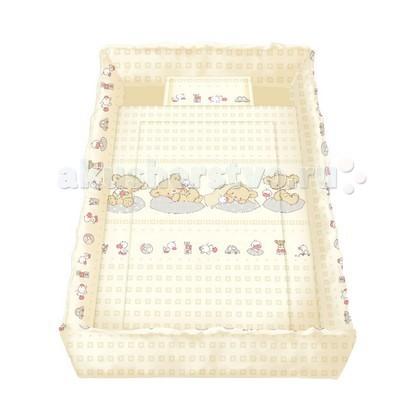 Комплект для кроватки Bertoni (Lorelli) Lily (5 предметов)Lily (5 предметов)Постельное белье для новорожденных Lily.  В комплекте: 4 высокие защитные боковинки на завязочках (70х30 см - 2шт, 140х30 см - 2 шт.) 1 одеяло 100х140 см 1 подушечка 35х45 см 1 простыня 100х145 см 1 наволочка 35х45 см  Материал - 100 % хлопок. Наполнитель - синтепон, не вызывает аллергию. Постель можно стирать и в машинке при Т 30 С.  Рисунки комплектов в ассортименте!<br>