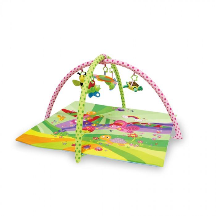 Развивающий коврик Bertoni (Lorelli) СказкаСказкаКонструкция легко собирается и переносится. Очень комфортный, яркий и красочный.   Яркий развивающий коврик  Выполнен из разных по фактуре материалов В комплекте имеется две дуги, на которые крепятся 4 разных по структуре игрушки и 1 мягкая с небьющимся зеркальцем Игрушки крепятся на дуги с помощью колец, благодаря чему их можно спокойно снимать и использовать как отдельные игрушки Обе дуги также съёмные, поэтому коврик можно легко складывать и транспортировать Развивает тактильное, звуковое и цветовое восприятия, координацию движений и мелкую моторику рук с самого рождения Материал: текстиль  Упаковка - прозрачная пластиковая сумочка с ручкой.  Размеры: 91х84 см.<br>