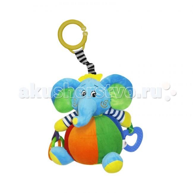 Подвесная игрушка Bertoni (Lorelli) Слоник с вибрациейСлоник с вибрациейПодвесная игрушка Слоник сшита из кусочков тканей разной расцветки и разной фактуры. Ребенок с интересом будет рассматривать их. Если взять игрушку в ручку и потрясти ее в воздухе, внутри будет греметь погремушка.  Эти забавные игрушки можно подвесить на бортик кроватки или прикрепить к коляске с помощью удобного зажима. А когда у малыша полезут первые зубки, колечки-прорезыватели помогут ему справиться с неприятными ощущениями.<br>