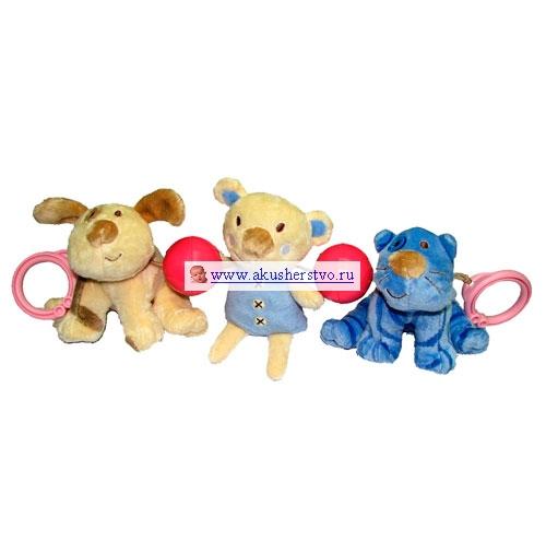 Подвесная игрушка Biba Toys Зверята растяжка на коляску