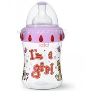 Бутылочка Bibi Little Stars комфорт с широким горлышком силикон с 1 мес. 250 мл