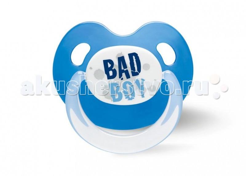 Пустышка Bibi Dental BasicCare Drama Queen/Bad Boy силикон Дневная с 16 мес.