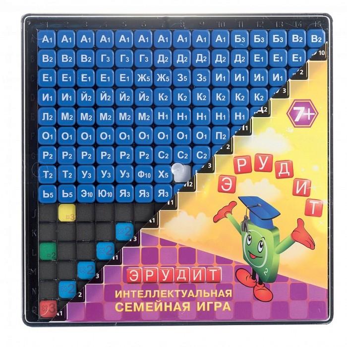 Биплант Игра ЭрудитИгра ЭрудитИгра Эрудит  Если ваша семья любит интеллектуальный досуг, игра «Эрудит» с синими фишками станет для вас отличным приобретением. Правила довольно просты — игроки набирают определенное количество фишек с буквами. Каждая буква стоит определенное количество очков. Если фишка попадает на призовые клетки, участник набирает бонусные баллы.   Слова составляются по принципу кроссворда или анаграммы. Победителем становится игрок, набравший наибольшее количество очков. Игра расширяет кругозор, способствует обогащению словарного запаса, совершенствует навыки чтения. Набор можно взять с собой в путешествие.<br>