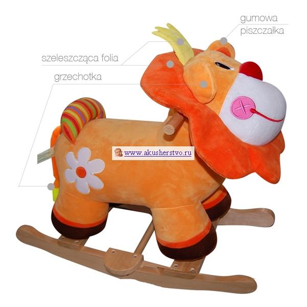 Качалка BoboBaby ЗверушкиЗверушкиЕсли вы хотите сделать малышу приятный сюрприз, подарите ему мягкую качалку BoboBaby. Она понравится и маленьким леди, и юным кавалеристам. Они с восторгом будут кататься на ней! Это прекрасная игрушка, которая развивает не только вестибулярный аппарат, но и воспитывает любовь к животным.  Она рассчитана на деток от 1 года, максимальный вес  нагрузки 16 кг Высококачественные материалы изготовления Очень красивая расцветка Мягкая и устойчивая Абсолютно безопасна для малышей Устойчивые полозья полукруглой формы помогут крошке весело раскачиваться Есть стремена для маленьких ножек Малыш будет чувствовать себя настоящим наездником Детки с радостью будут качаться на качалке Продукт отвечает стандартам безопасности EN71   Развитие ребенка: Совершенствуется координация движений Улучшается воображение Детки полюбят животных  Состав: 100% полиэстер , дерево. Размеры: высота около 55 см.<br>