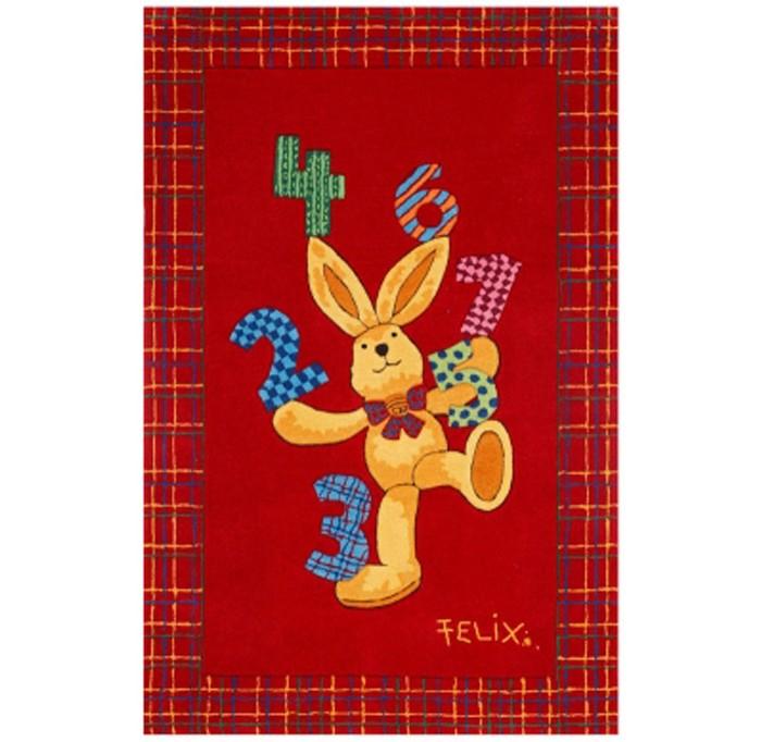 Boing Carpet Ковёр Felix 2194Ковёр Felix 2194Ковёр Felix 2194 с очаровательным кроликом-путешественником непременно украсит любую детскую комнату.  Мягкий, плотный ворс защитит ребенка при падении на пол, а так же подарит тепло и уют.  В состав волокон, используемых при производстве ковра входит Хитозан - вещество 100% натурального происхождения, обладающее антибактериальным свойством и нейтрализующее запахи.  Высота ворса составляет 10 мм.<br>