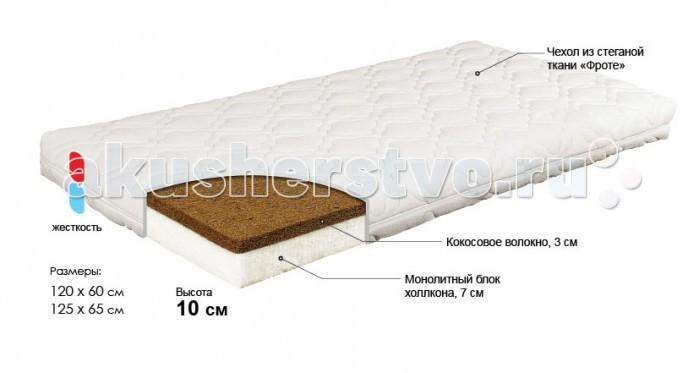 Матрац Bombus Карапуз 65х125х11 см