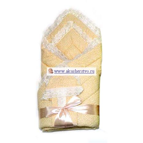 Комплект на выписку Bombus Фунтик (4 предмета)Фунтик (4 предмета)В дополнении к этому милому одеялу на выписку приложены нежная распашонка и чепчик. Весь комплект отделан нежным кружевом и украшен атласным бантом.   Комплект на выписку из 4-х предметов:  одеяло 110 х 110 см  распашонка  чепчик  бант  Состав верх: 100% хлопок Наполнитель: 100 г холкон<br>