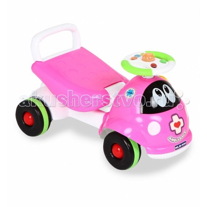 Каталка Bony детская JR-909детская JR-909Bony Каталка детская JR-909 – это средство передвижения для малышей от года. Она непременно привлечет внимание ребенка и станет любимой игрушкой на несколько лет.   Машинка выполнена из качественного, нетоксичного пластика, имеет привлекательный дизайн и красочную рулевую панель. Каталку можно взять с собой на улицу, в поездку или устроить веселые игры дома.<br>