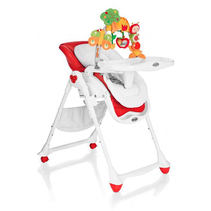 Стульчик для кормления Brevi B.FunB.FunBrevi B Fun - это новый высокий детский стульчик 3в1, который превращается из шезлонга для новорожденных в многофункциональный высокий детский стульчик, чтобы сопровождать в росте ребёнка от 0 до 3 лет. B Fun Brevi предлагает всё то, что необходимо для кормления, сна и игры ребёнка: удобный детский шезлонг в 0-6 месяцев, многофункциональный высокий детский стульчик, используемый с 6 месяцев и стульчик для кормления , чтобы есть за столом вместе со взрослыми, начиная с 12 месяцев.  0мес.+ Детский шезлонг анатомнический Brevi B.Fun в полностью опущенной позиции может принимать ребёнка даже с самого рождения до 9 кг, заключая и защищая его в мягкой и анатомической колыбельке из хлопчатобумажной ткани с набивкой.   Идеальное раскладывание - Эксклюзив Brevi дорожит здоровьем детей. Поэтому, в конфигурации шезлонг Brevi B.Fun позволяет малышу принять полностью распростёртое положение, фундаментальное для первых месяцев жизни.   Уютная колыбель Для того, чтобы защищать новорожденного в мягком объятии, колыбелька Brevi B.Fun изготовлена из мягкой и натуральной хлопчатобумажной ткани, с защитными краями с набивкой. Можен использоваться также, как двухсторонний уменьшитель размера во время первых кормлений.   Дуга с игрушками, полная сюрпризов Brevi оснастила детские шезлонги B.Fun планкой,богатой игрушками для новорожденных. Нежные мягкие игрушки занимают и помогают развитию зрения, тактильного чувства и координации движения рук малышей. Игрушки могут сниматься с дуги и использоваться в многочисленными способами: как браслеты, для украшения ручек бокса, кроваток и пр.  6мес.+ Высокий детский стульчик Brevi B.Fun превращается в удобный высокий детский стульчик с уменьшителем размера, с использованием от 6 месяцев, для первых кормлений и для игры ребёнка. Высота сиденья регулируется, также как и позиция подноса и наклон спинки, а также подставка для ног.   Удобный поднос Двойной поднос с 2 гнёздами для стаканов, а также регулируемый в 3 п