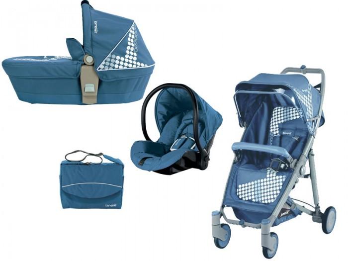 Коляска Brevi Crystal 3 в 1Crystal 3 в 1Коляска Brevi Crystal 3 в 1 прекрасная многофункциональная коляска пойдет для малыша с первых дней жизни и не оставит равнодушной ни одну маму .  Люлька может использоваться как удобная кроватка и переноска , легко крепится к раме . Съемные чехлы легко стираются в стиральной машинке при температуре 30 градусов.  В прогулочный блок установлены 5-ти точечные ремни безопасности,мягкий бампер для безопасности может сниматься , а прочная подставка для ног легко моется.  Автокресло соответствует стандартам ECE R44/04 по перевозке детей до 13 кг ( группа 0+), 5-ти точечные ремни безопасности , может использоваться как люлька и кресло-качалка, благодаря своему округлому основанию, благодаря входящим в комплект адаптерам, крепится к раме с простым нажатием кнопки. Снабжен ручкой-переноской.   В комплекте: люлька прогулочный блок автокресло 0-13 кг накидка для ног дождевик подходит для и коляски и прогулочного блока сумка пеленка для пеленания адаптеры для установки автокресла   Общие размеры:   с прогулочным блоком 104,5х87,5х51 см с автокреслом 104,5х87,5х51см с люлькой 104,5х87,5 см в сложенном виде 82,5х44 см  Вес:   шасси 6,4 кг<br>