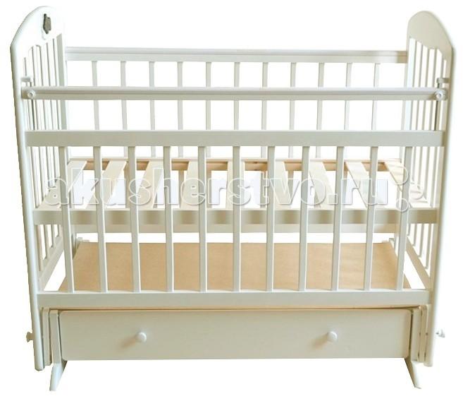 Детская кроватка Briciola - 8 (маятник поперечный)- 8 (маятник поперечный)Удобная и простая по исполнению детская кроватка Briciola-8 (маятник поперечный) будет красиво и гармонично смотреться при любой направленности дизайна интерьера. Помимо эстетических характеристик, модуль отличается практичностью и функциональным совершенством.  Достоинства детской кроватки Размеры ложа: 120х60 см Кроватка изготовлена из массива березы – это натуральный экологически чистый материал Раскачивание кроватки воспроизводится при помощи поперечного маятника, также имеются специальные фиксаторы, которые блокируют кровать в ровном положении Боковая стенка легко снимается, обеспечивая быстрый доступ к ребенку Боковая оградка также опускается по высоте  Имеется накладка ПВХ Ложе регулируется в двух уровнях по высоте Боковые стенки представлены ламелями, которые расположены друг от друга на достаточном расстоянии, чтобы между ними не застревали ручки и ножки малыша. Кроме того, ламели обеспечивают постоянный приток свежего воздуха к малышу, а также позволяют присматривать за ребенком В нижней части изделия располагается удобный выдвижной ящик с защитой от непреднамеренного выпадения Детская кроватка Briciola-8 – это надежность и комфорт по доступной стоимости Полное отсутствие острых деталей, которые могут нести потенциальную опасность для крохи<br>