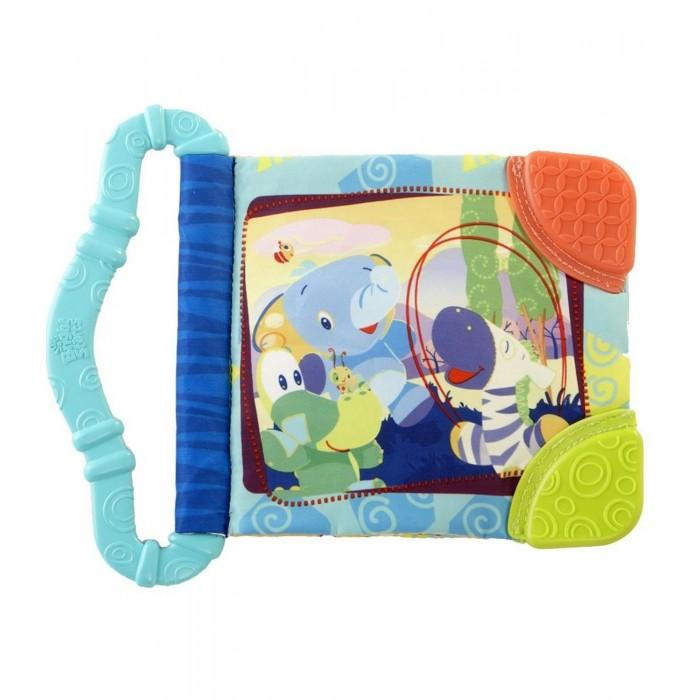 Bright Starts Игрушка-книжка Веселые зверюшкиИгрушка-книжка Веселые зверюшкиРазвивающая книжка с прорезывателем Bright Starts Веселые зверюшки, в голубом исполнении, станет великолепным помощником для малыша в тот период, когда у него начинают появляться зубки. Модель выполнена в стиле книжки с яркими картинками, которые позволят занять ребенка и привлечь его внимание.   Сама книжка изготовлена из шершавой ткани и состоит из двух страничек, благодаря книжка очень увлечет малыша. Два разноцветных, мягких прорезывателя привлекут внимание малыша и позволят чесать об них зубки. Прорезыватели выполнены в форме колечек, благодаря чему малыш может с невероятным удобством брать их в руку. Модель обладает очень маленькими размерами, которые будут удобны как родителям, так и малышу. Новая развивающая книжка поможет родителям в развитие ребенка.<br>
