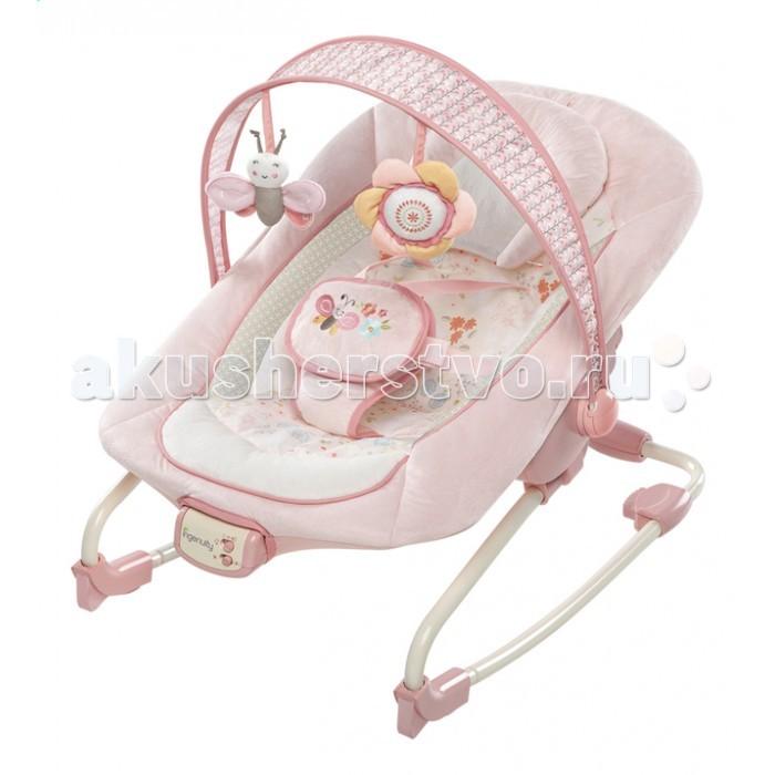 Bright Starts Кресло-качалка InGenuityКресло-качалка InGenuityBright Starts Кресло-качалка InGenuity  Особенности: • Сиденье можно раскачиваться назад и вперед, чтобы успокоить малыша, или его можно зафиксировать в одном положении  • Подходит для малышей и детей постарше  • 3-х позиционное сиденье колыбельного типа со съемной подушкой • Успокаивающая вибрация,  • 7 мелодий,  • регулировка громкости и автоматическое отключение через 15 минут  • Съемная перекладина с 2-мя забавными мягкими игрушками   Дополнительные характеристики: • 5-точечный ремень безопасности • Сиденье можно стирать в стиральной машине • Специальные «нескользкие» ножки • 3 батарейки типа С (не входят в комплект) • Размеры продукта: 86,5 х 71 х 61 см • До 18 кг<br>